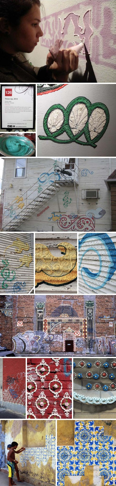 Artist Who Throws Cake : Shelley Miller: Cake Icing Graffiti