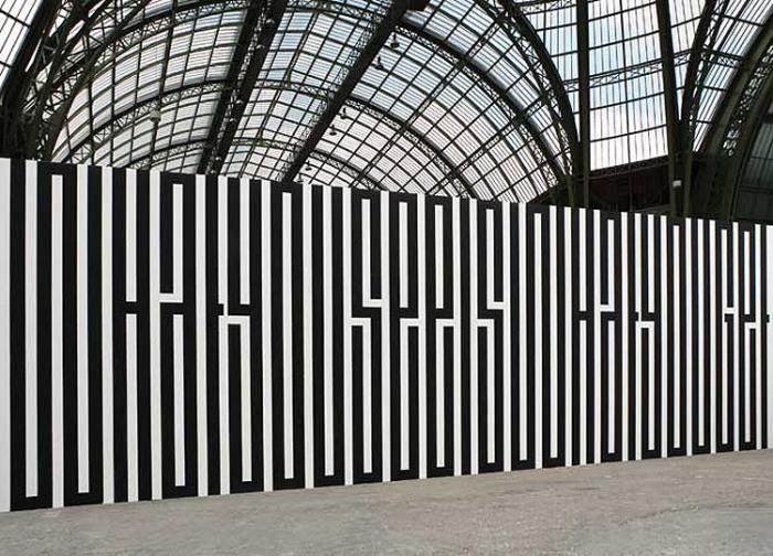Typographic murals, Tania Mouraud, French Street Art, typography, wysiwyg, ihad