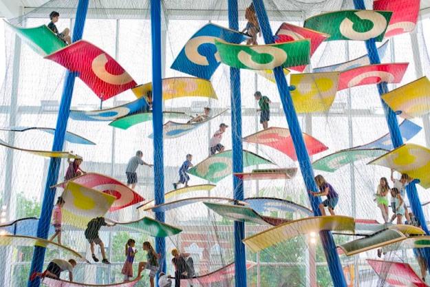 Climbing structure, Indoor Children's Playground, Columbus, Ohio, Tom Luckey, Luckey Climber, Fun Playground Design