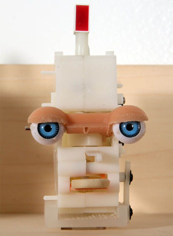 Robots, Playdoh, humorous sculpture make in assemby line style by Fernando Orellana