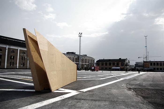 Cool architecture, Light Pavilion in Helsinki by VAV arquitectos, sundial on exterior