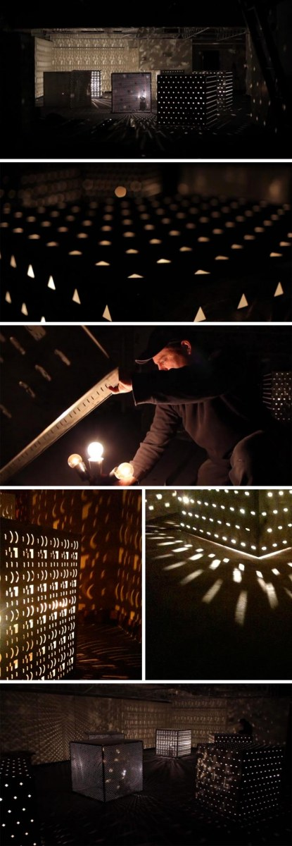 sound and light installation by Craig Colorusso, cubemusic, East Prospect, Arkansas