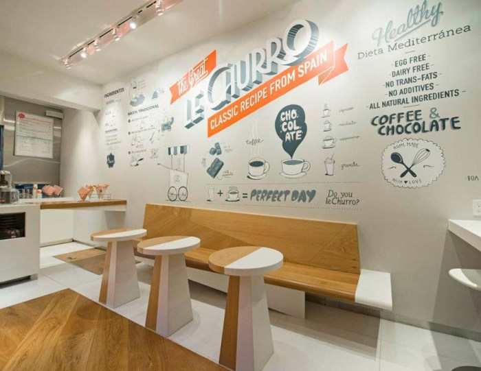 Retail Shop design, Boamistura, Fun churro shop in nyc, Chocolat Factory chocolate mustaches and finger tips, packaging, logo, identity design