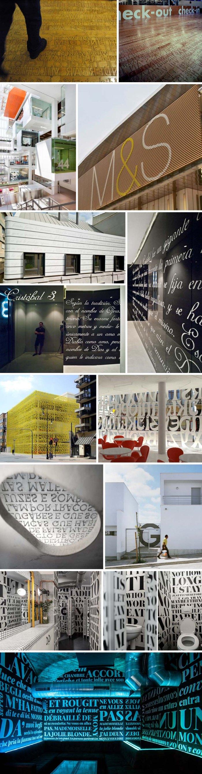 Typography in Architecture, Library by manfredinicoletti Architects, Architypeture, Letters on Architecture, environmental design, signage, Pentagram, Ann Hamilton, Clavel Arquitectos, manfredinicoletti, grelewicz, trafiq, 81Font