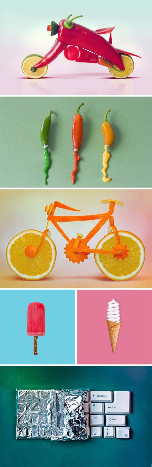 Dan Cretu combines food and non-food to create delightful sculptures of everyday objects