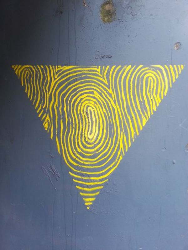 Spanish Street Art, e1000, Fingerprint-like graffiti, street art