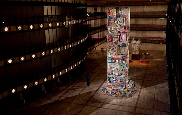 New York City Ballet Art Series commissioned Faile (street artists) to create installation Les Ballet de Faile at Lincoln Center