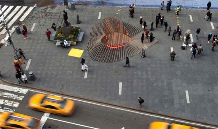 Valentine's Day 2013 Installation by Situ Studio in Times Square, Duffy Square. Heartwalk.