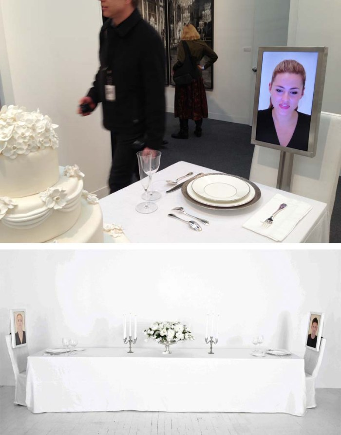 Cool art installation at the Armory show 2013, Dinner for Two by Rachel Lee Hovnanian