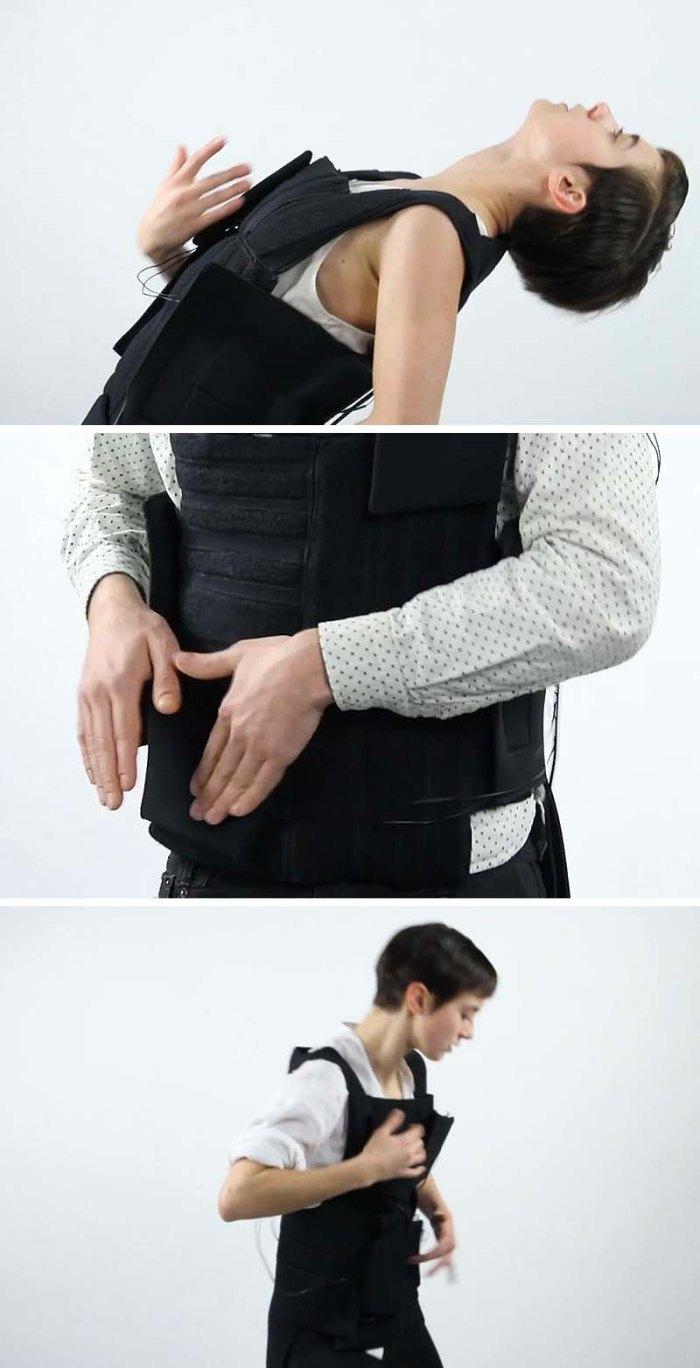 Wesley Chau, RISD ID Senior, Drop the Beat a wearable electronic drum set vest