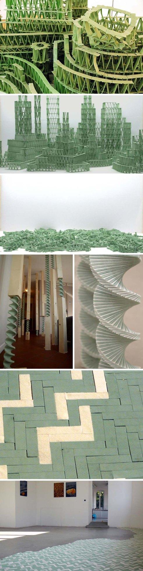 傑里米Laffon,結構和用口香糖的棍棒,hollywoodoscopies,法國當代藝術雕塑
