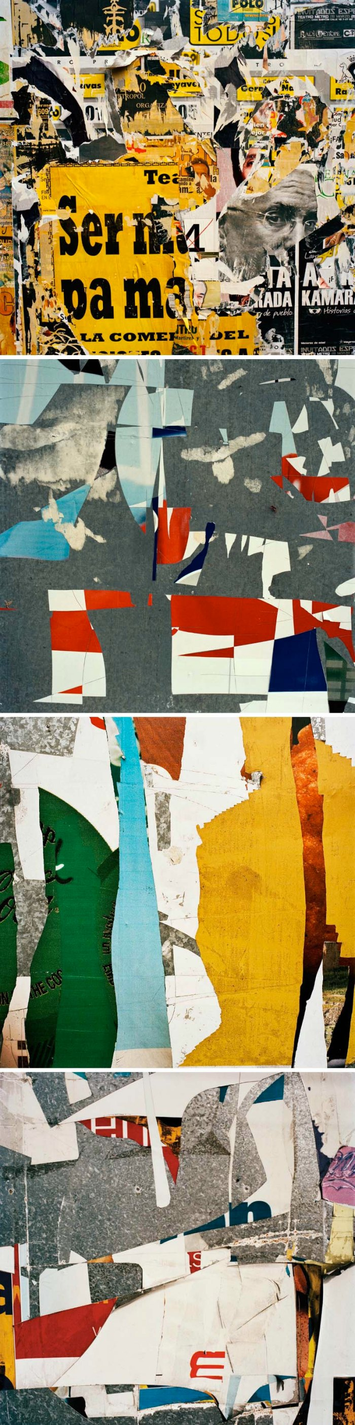 Mark Hartman Photography, Billboards, photo series of billboards with ripped down postings creating a collage effect
