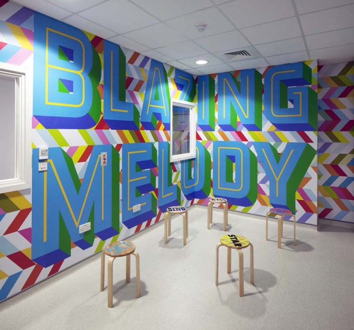 Studio Myerscough, Fun, colorful, type-filled environmental graphics and wayfinding systems. Morag myerscough, supergroup