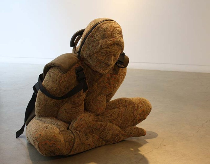 Nausheen Saeed, Pakistani Contemporary Art, Females as baggage or luggage, sculpture, Carrier, Scope 2013