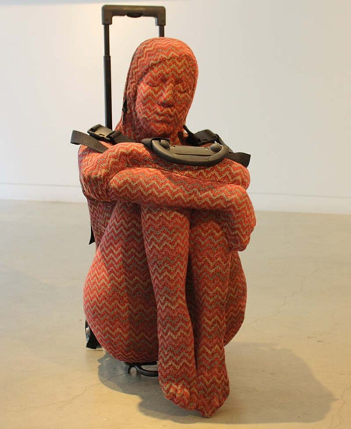 Nausheen Saeed, Pakistani Contemporary Art, Females as baggage or luggage, sculpture, Transitory, Scope 2013