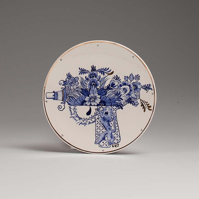 Click to enlarge & Trevor Jackson: Hand-Painted Artillery Plates | CollabCubed