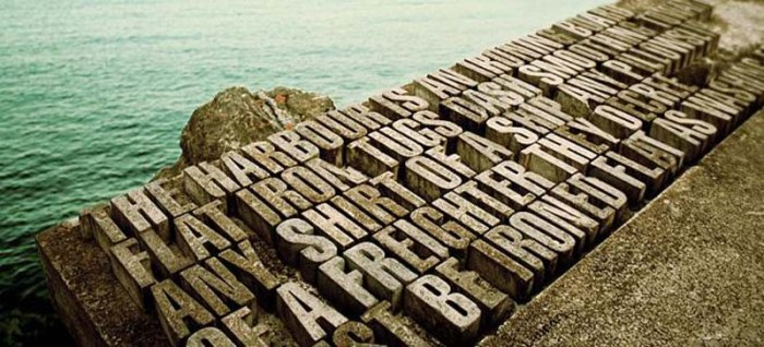 Wellington Writers Walk is a typography filled waterfront park in New Zealand, Catherine Griffiths and Fiona Christeller
