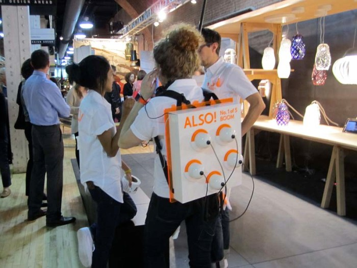 Also! Project, SVA students at Wanted Design Fair, The Tunnel, NYC 2013. Interactive carts.