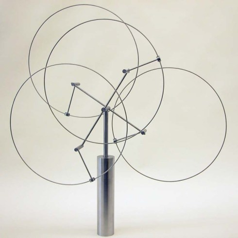 Anne Lilly, Interactive kinetic stainless steel sculptures, mechanical sculpture, temporal tincture