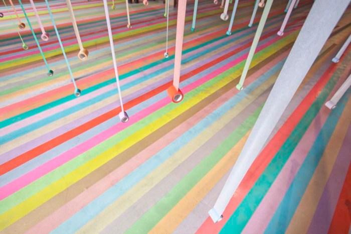 Koji Iyama, Iyama Design, colorful masking tape installation for mt tape in Sendai, Japan