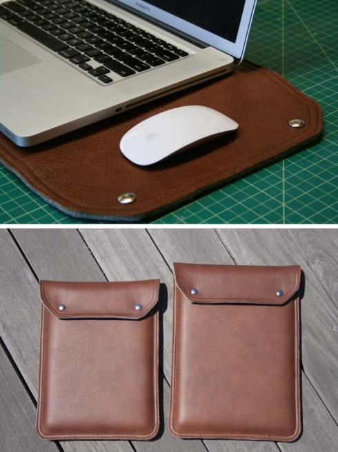 Packatt Case, Leather laptop case lined with felt, Studio 161, Kickstarter