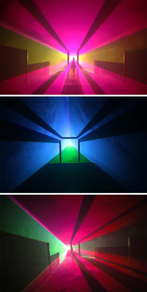 Light sculptures by Jayson Haebich, shadow and light playing with sense of depth & perception, Light Art