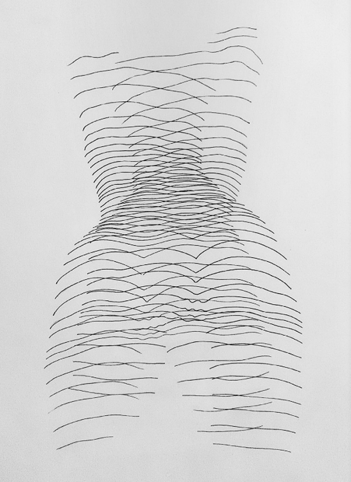 Alexi K., pen/ink line drawings of women, Cognitive Polygraph