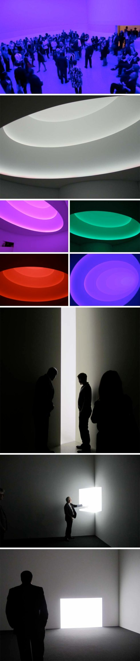 James Turrell Guggenheim, Aten Reign, Elliptical Skyspace, Guggenheim Rotunda, cool light installation