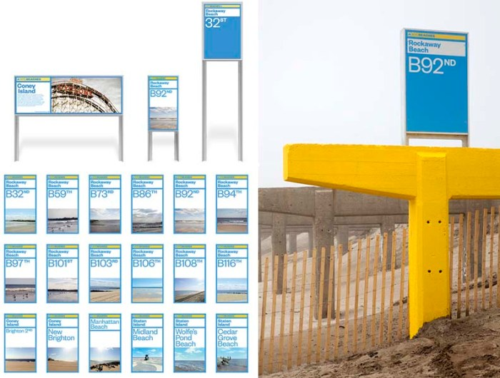 NYC Beaches - Signage   Location:  Rockaway Beach    Graphics:  Pentagram Design
