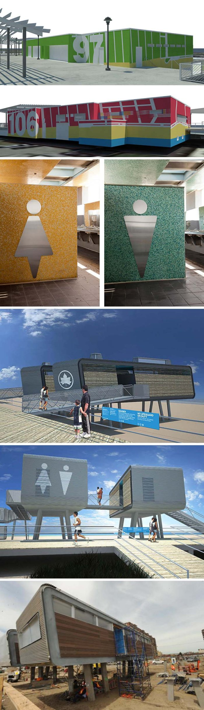 NYC Beaches - Signage   Location:  Rockaway Beach    Graphics:  Pentagram Design, Rockaway by Garrison Architects