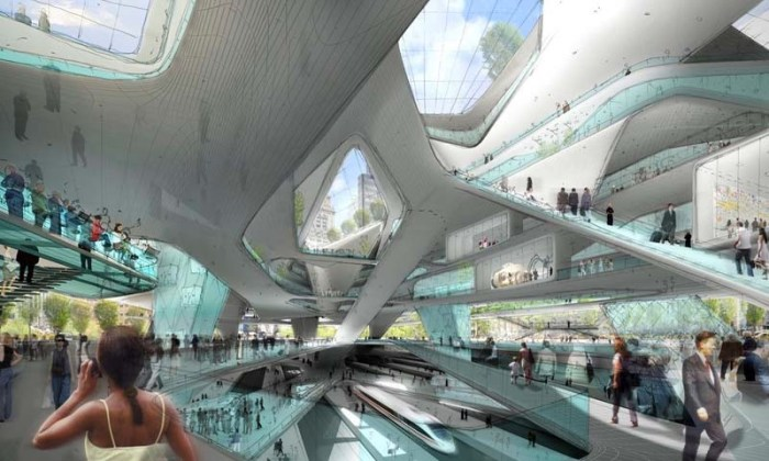 Proposal for new Penn Station by Diller Scofidio + Renfro for Municpal Arts Society. One of four architects asked to submit designs