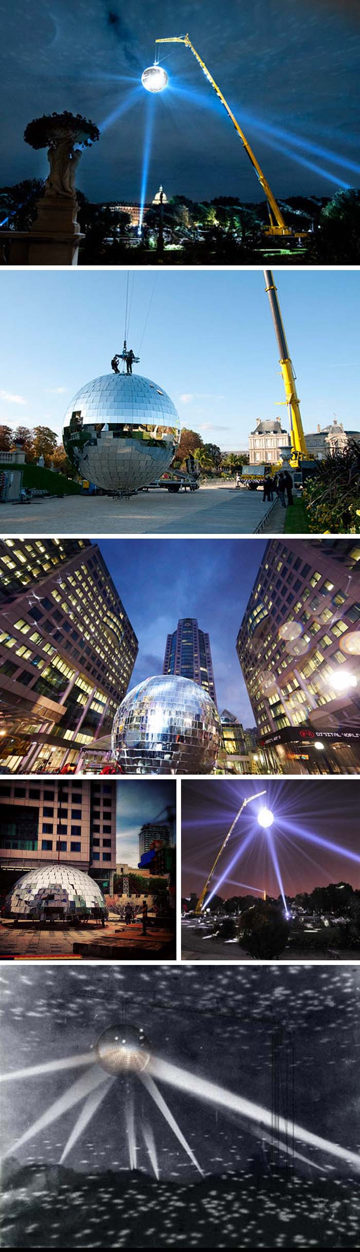 World's Largest Disco Ball, One Thousand Speculations by Michel de Broin for Luminato Festival, Toronto