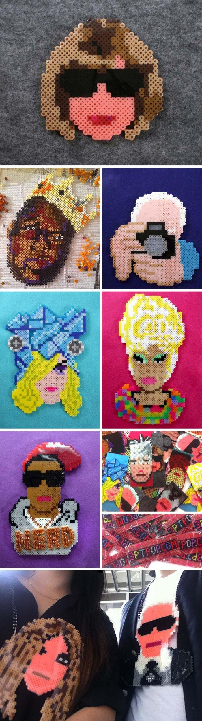 3PTPOP, Victor Pump, Victor-John Villanueva, Perler Bead pop art accessories