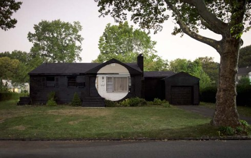 Suburban Interventions by Ian Strange (Kid Zoom), Street art on suburban homes, cool art interventions in suburbia