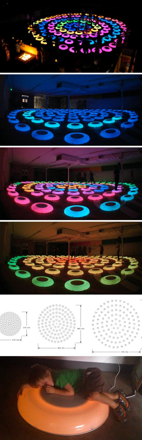 Jen Lewin, Interactive art installation, The Pool, Light art, cool art installation