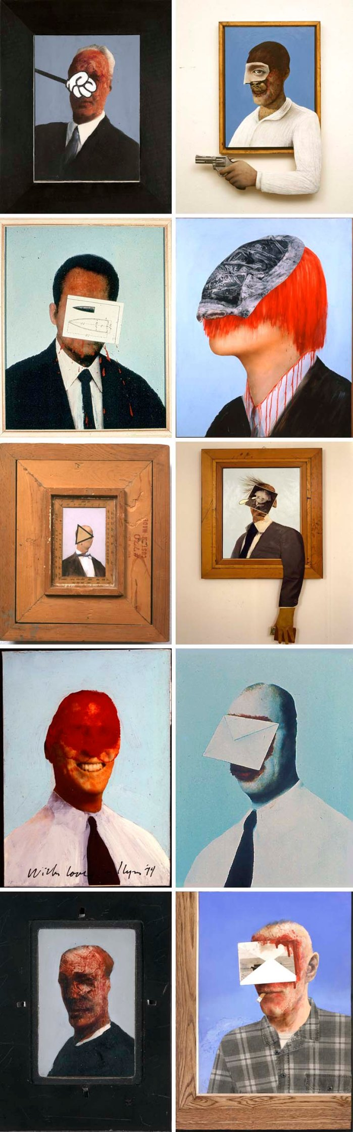 Llyn Foulkes, Collage, multimedia portraits, anti-corporate, political art, New Museum exhibit
