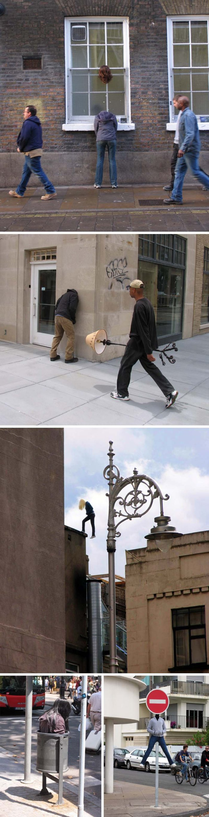 Mark Jenkins, street art, stuffed people,