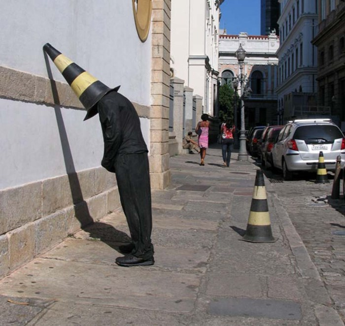 Mark Jenkins, street art, stuffed people,