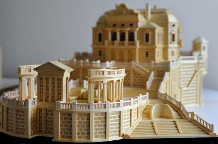 Matchstick architecture, Paul Marti, matchstick art, constructions made of matchsticks