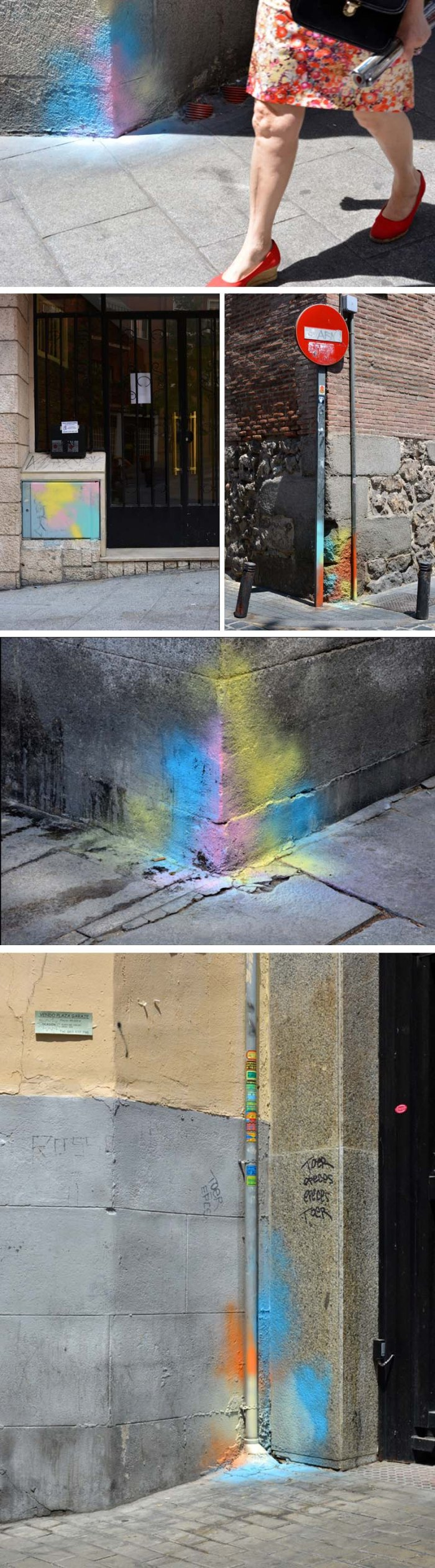 Rosh, Spanish Street Art, Street art in Madrid, Escrito en la Pared, color splashes