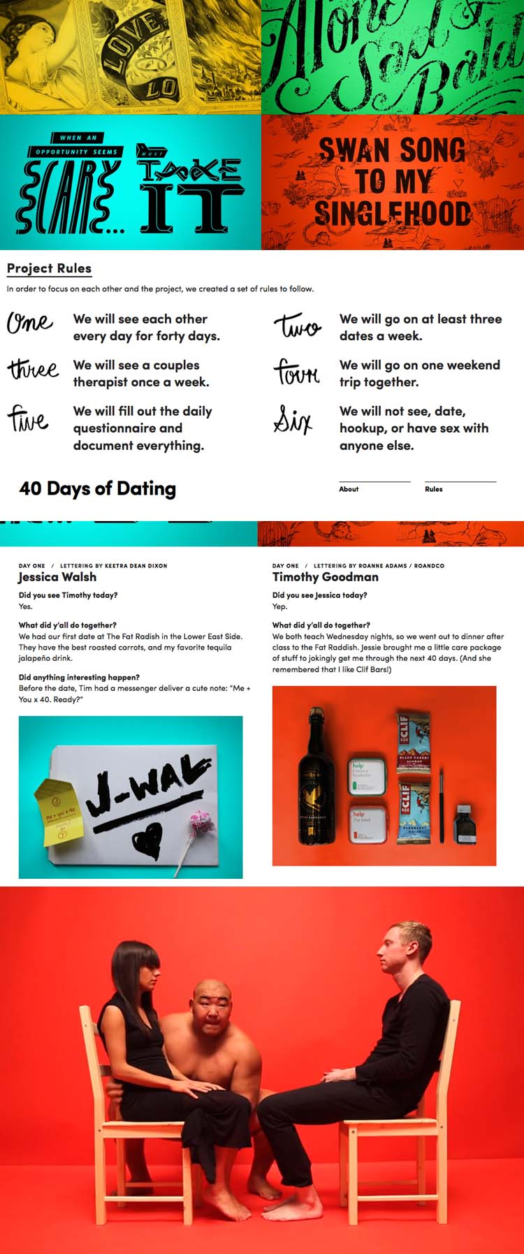 40 days of dating project blog