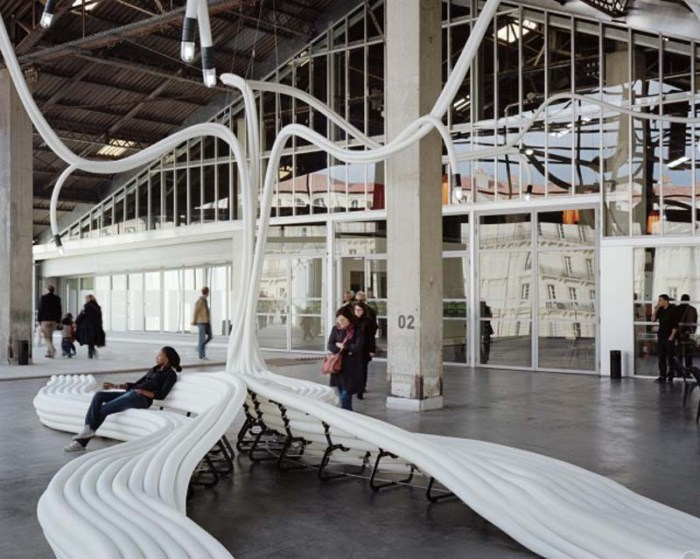 Sebastien Wierinck WorkShop, J1 Hangar in Marseille, Tube installation, Tubular, Cool interior design/furniture installation
