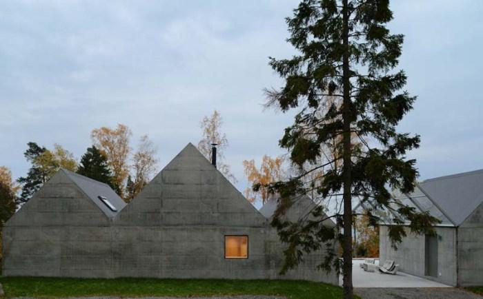 Tham & Videgard Arkitekter, Contemporary Swedish Architecture, Lagno Summer House, Concrete rooftops