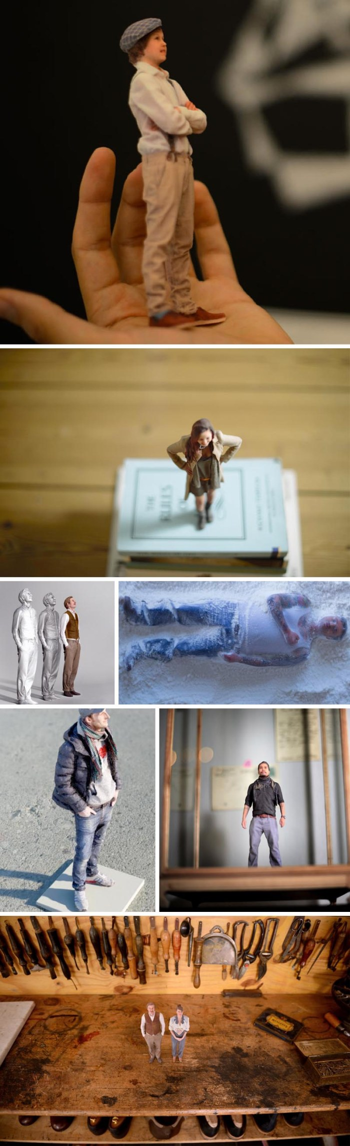 Twinkind, Hamburg-based company that can 3D print photo portrait figurines quickly. 3D-printed portraits.