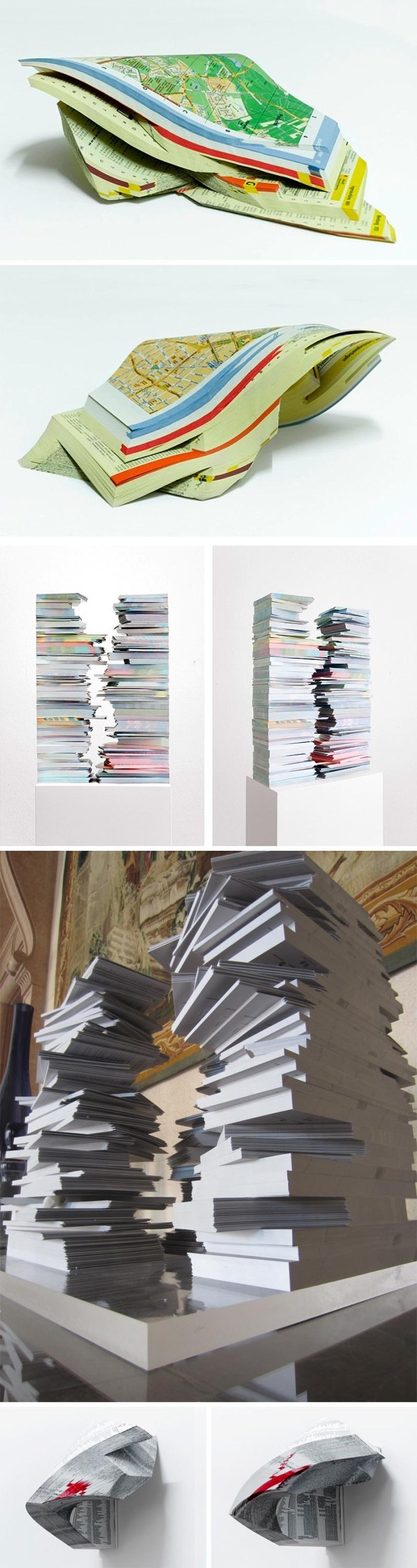 Phonebook sculptures, Gemis Luciani, Piece of Space