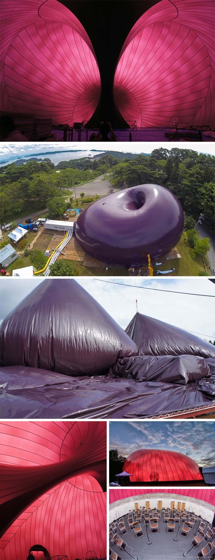 Lucerne Festival, Anish Kapoor and Arata Isozaki collaboration, inflatable concert hall Ark Nova