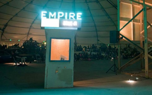 Empire Drive-In at the New York Hall of Science in Corona, Queens. Jeff Stark, Todd Chandler, Junkcar Drive-in, Upcycling, re-use, film, NYC event