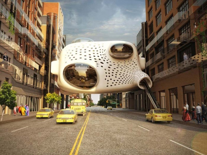 Heart of the District by German ZA Architects, cool hotel design, Cut 'n' Paste exhibit MoMA, futuristic architecture