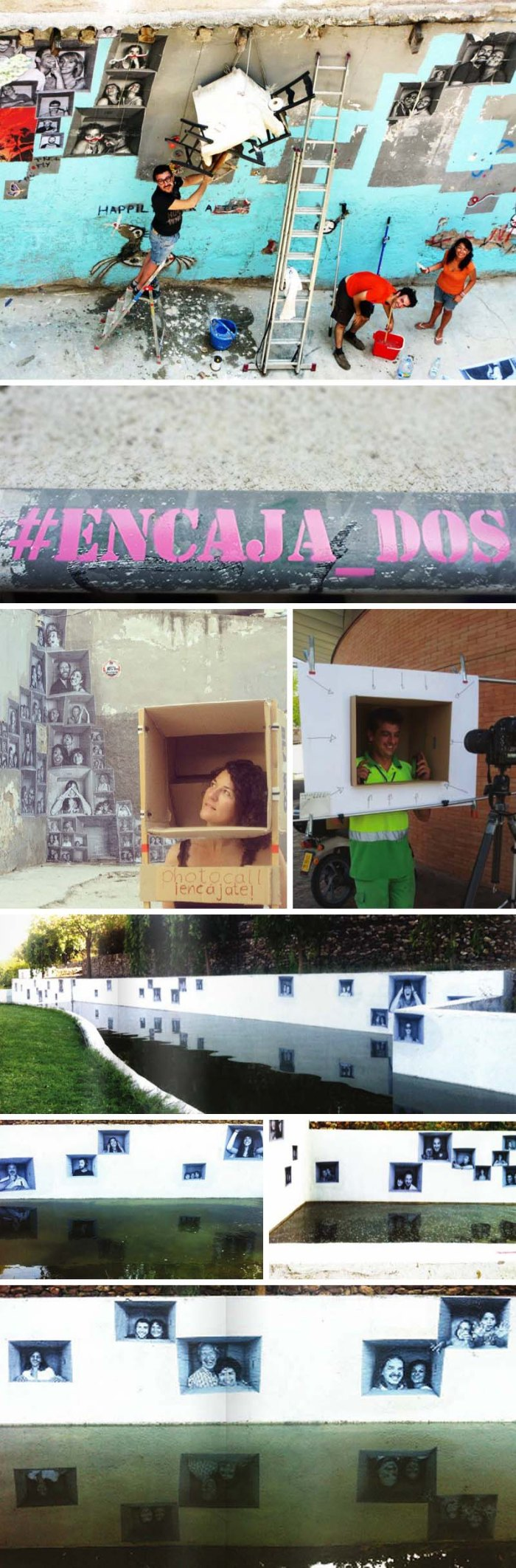 Lagaleriademagdalena, Spanish Street art, #Encaja_dos, photocall pop-ups in Barcelona and Rivas Vaciamadrid