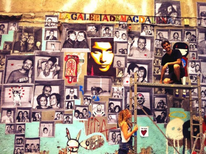 Lagaleriademagdalena, Spanish Street art, #Encaja_dos, photocall pop-ups in Barcelona and Rivas Vaciamadrid